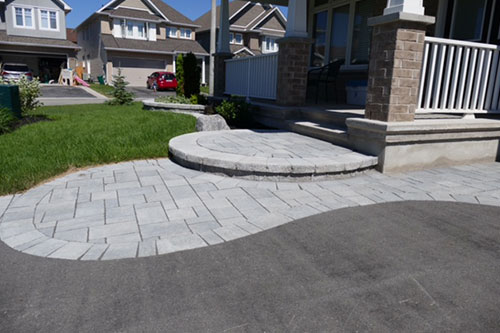 Driveways yves potvin ottawa interlock curved stone driveway details and steps solutioingenieria Gallery
