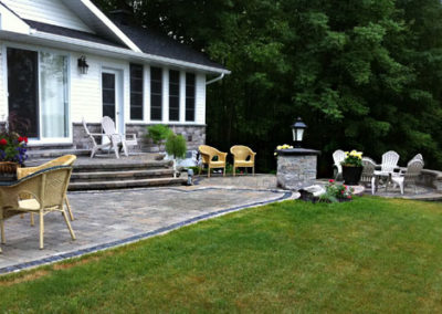 Interlocking stone patios