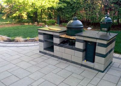Custom BBQ design to match your interlock patio