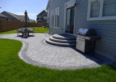 Creative interlock backyard