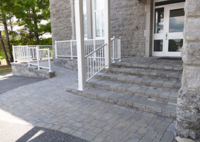 Wheelchair accessible interlock walkway and entry